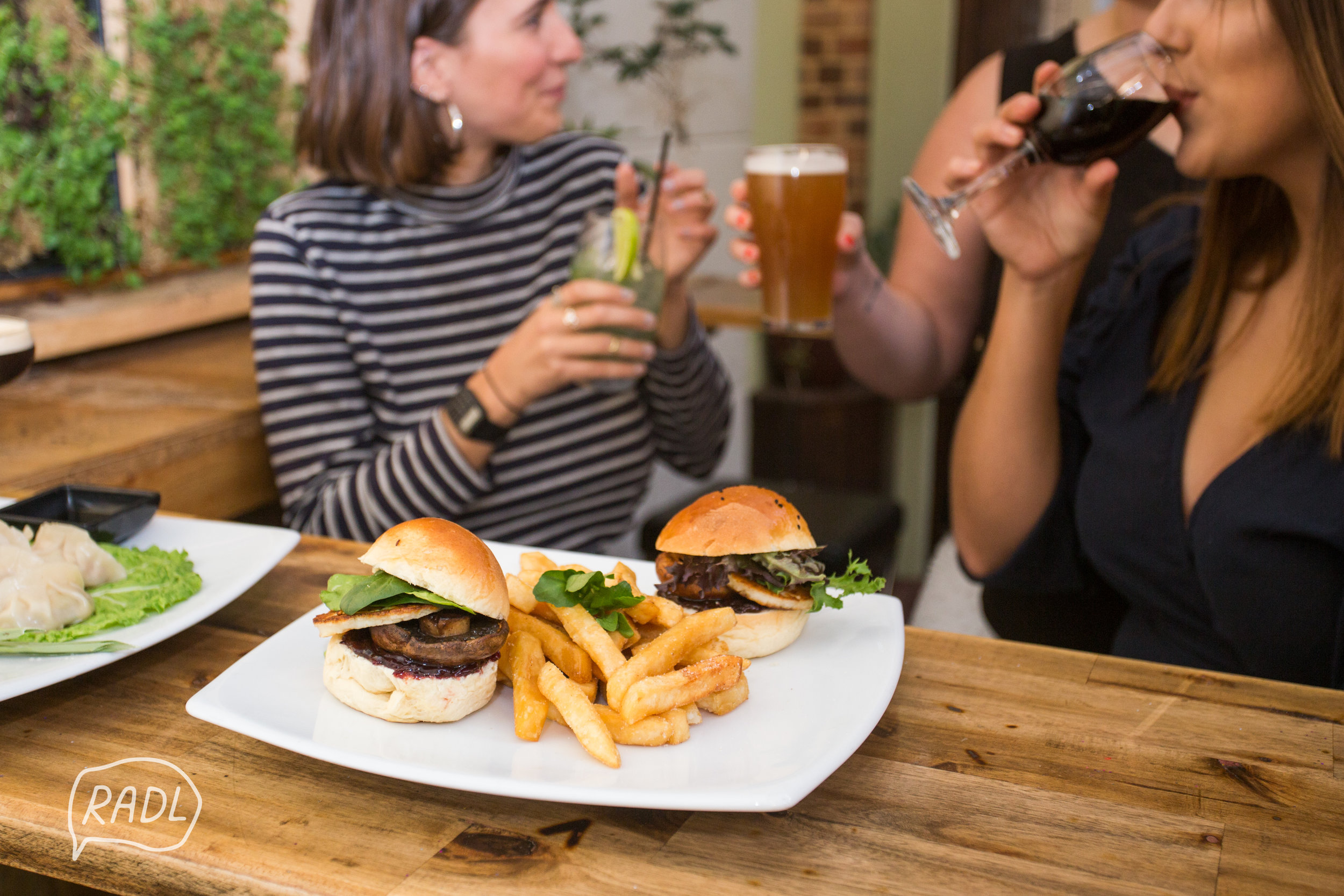 Veggie burgers and rooftop bars, nuff said.