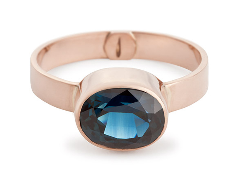 Australian Sapphire and Rose Gold Ring   Photo courtesy of Perth Product Photography