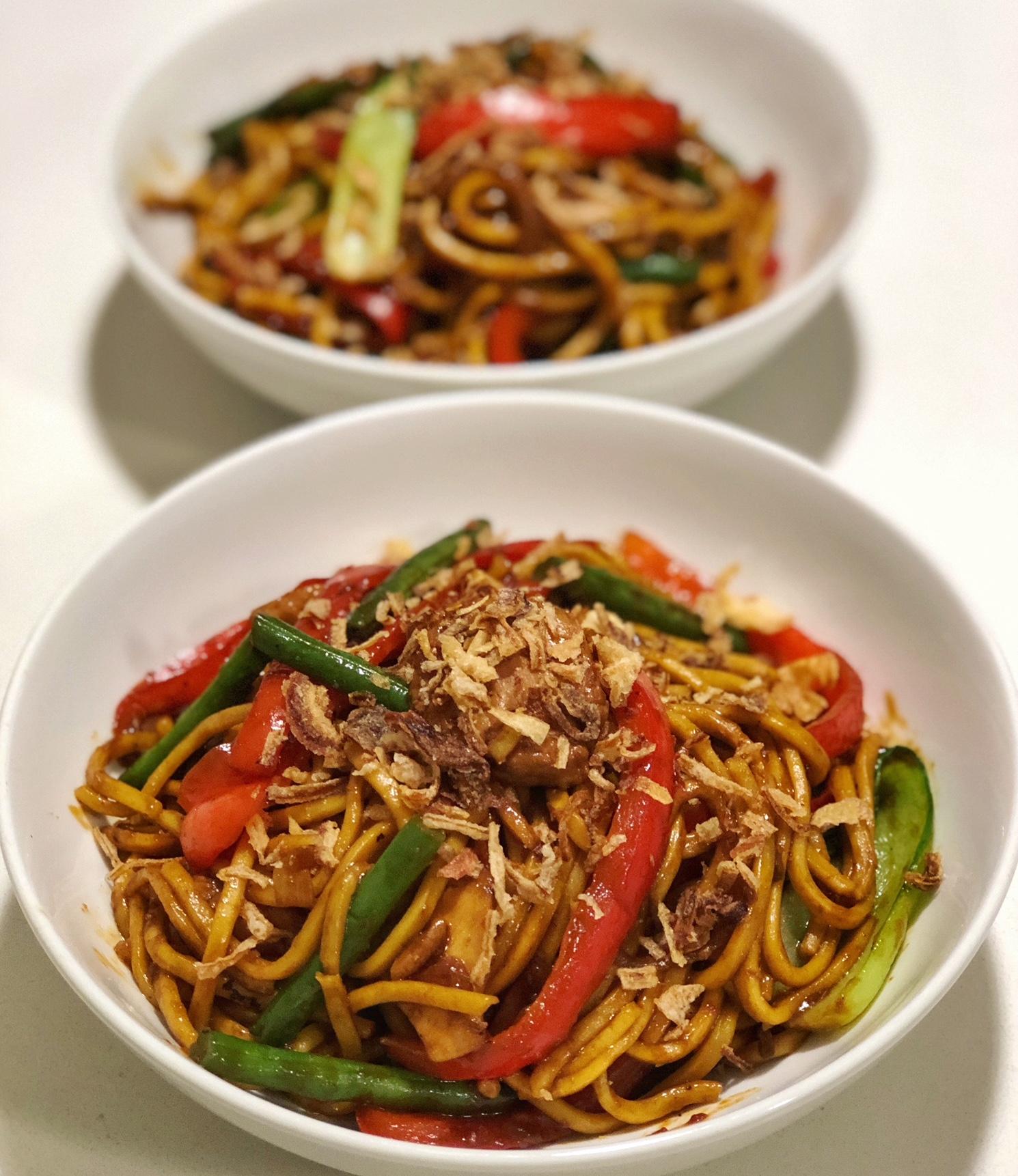 Your Mongolian Chicken Noodles be readdddddddy