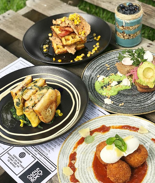 A few of the savoury options on the menu
