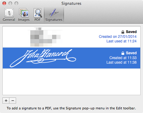 * Follow Apple's lead on signature security. Take necessary precautions and don't leave it lying around!