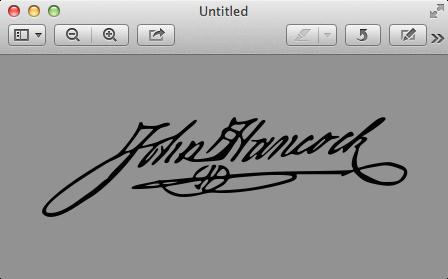 Not my  actual  signature…