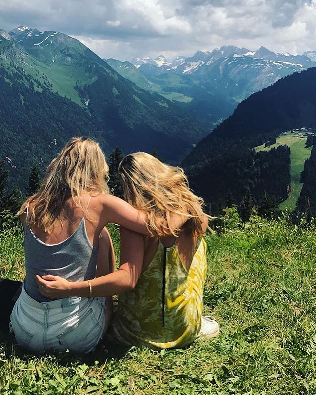 day dreaming of the simple mountain life up here... nature is always the freshest tonic. {to join us yoga retreating and resetting with these views - link in bio. weekends in May & June available. you won't regret it.} love Katie x #yoga #mountain #retreat #morzine