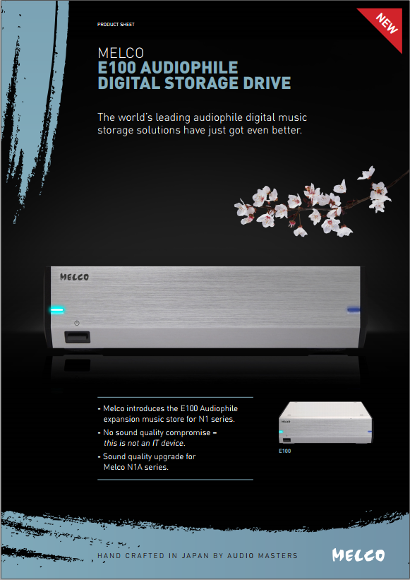Easily expand available storage - Modular E100 digital storage drive offers additional storage options if and when required
