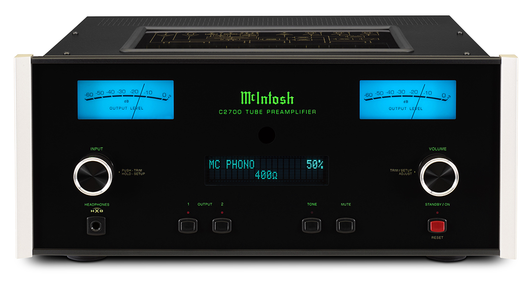 Valve preamp for the digital age - McIntosh's new C2700 Vacuum Tube Preamplifier is a highly versatile 16-input preamp which combines 70 years of valve expertise with the very latest Hi-Res digital audio technology.