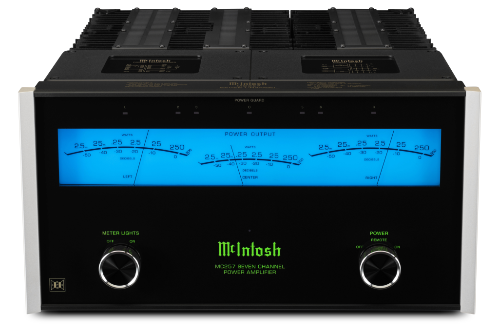 McIntosh for home cinemas - New 7-channel MC257 power amp brings the legendary McIntosh sound quality (and power!) to home cinema systems everywhere