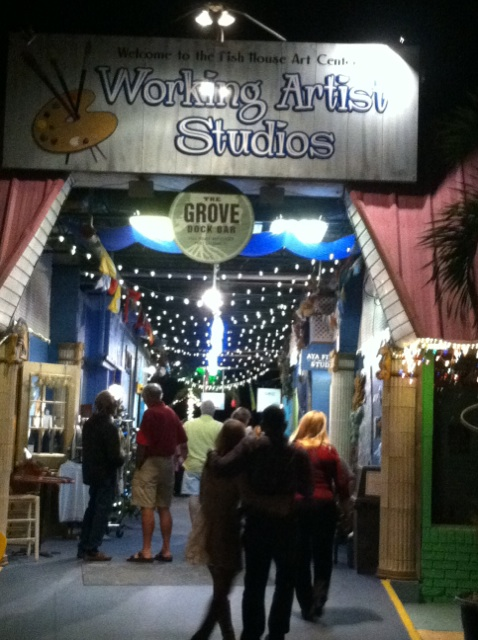 There are 8 working Artist Studios at the Fish House Art Center- you can find out more about everyone on  The Fish House Website!