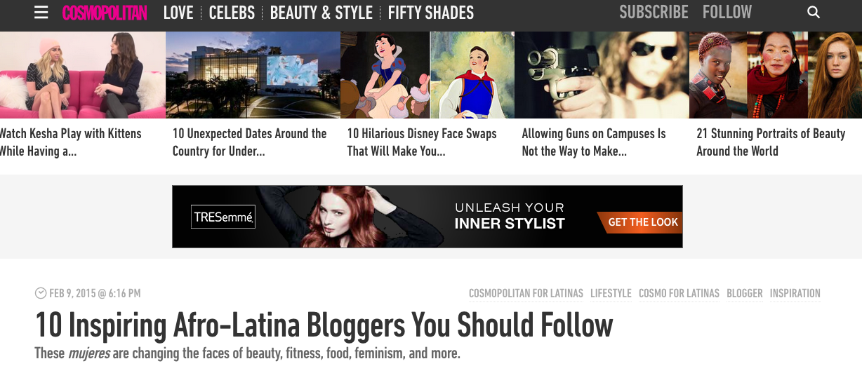 Cosmo for Latinas - 10 Inspiring Afro-Latina Bloggers