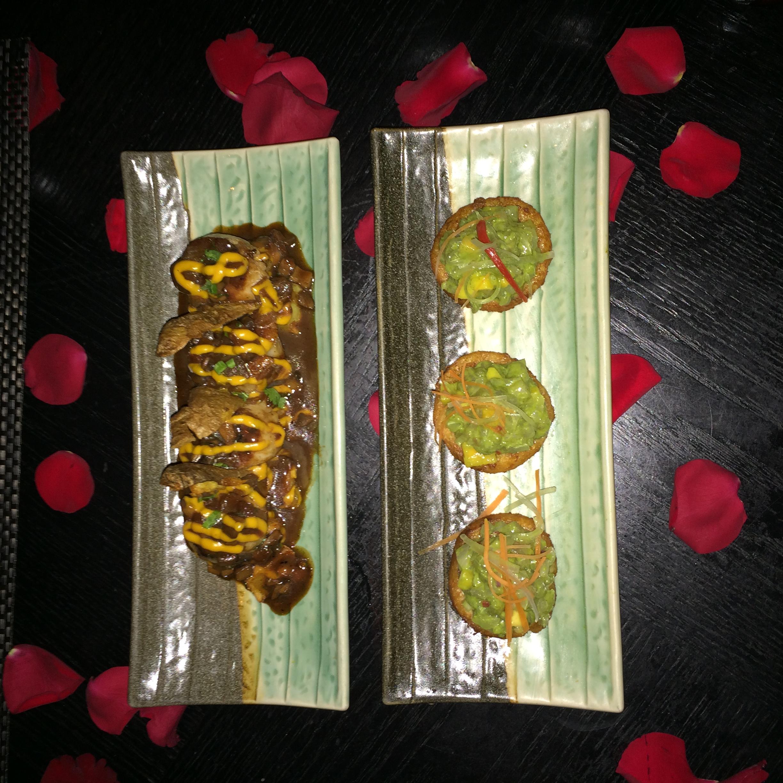 S auté  ed scallops & Tuna tataki