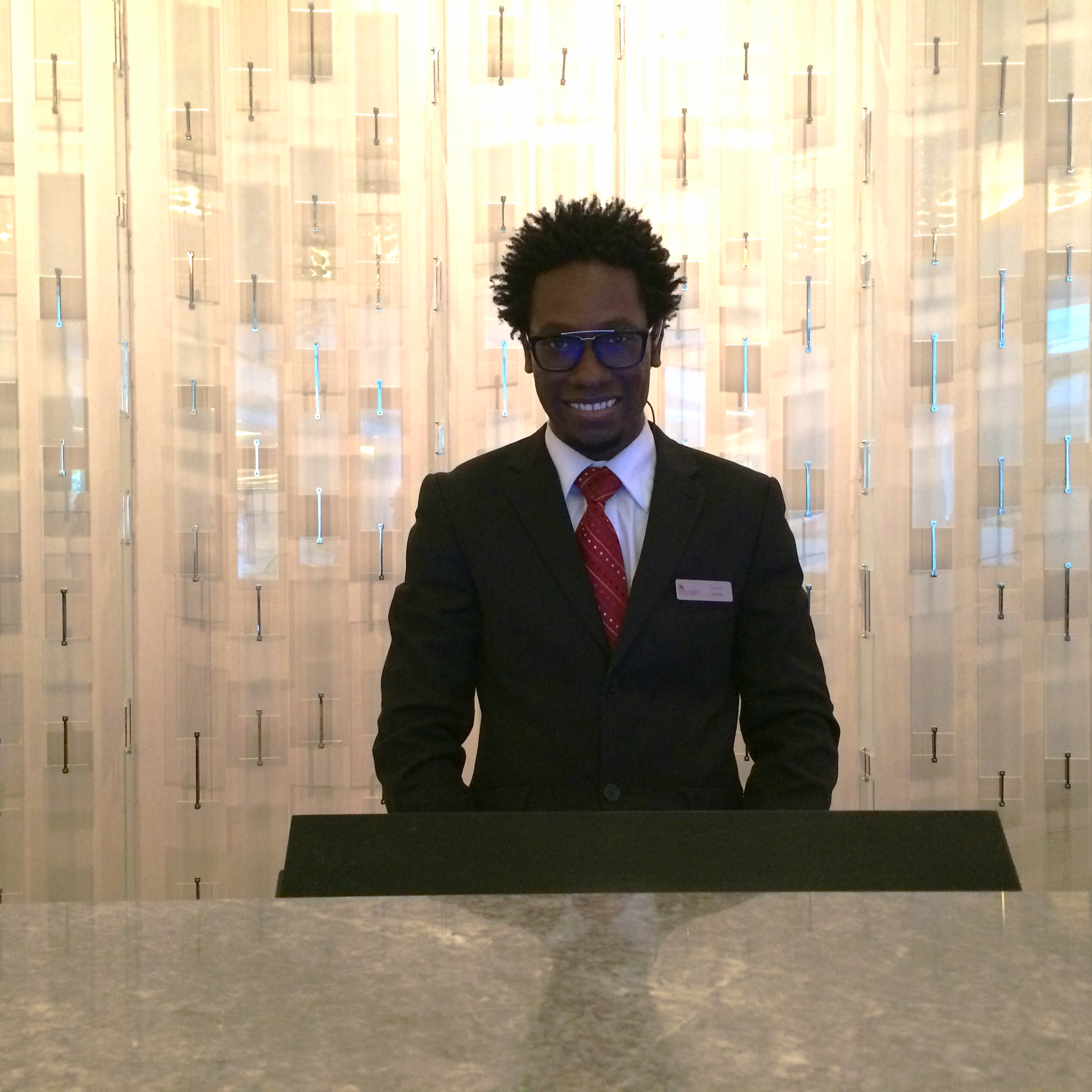 Hotel Clerk David who checked me in