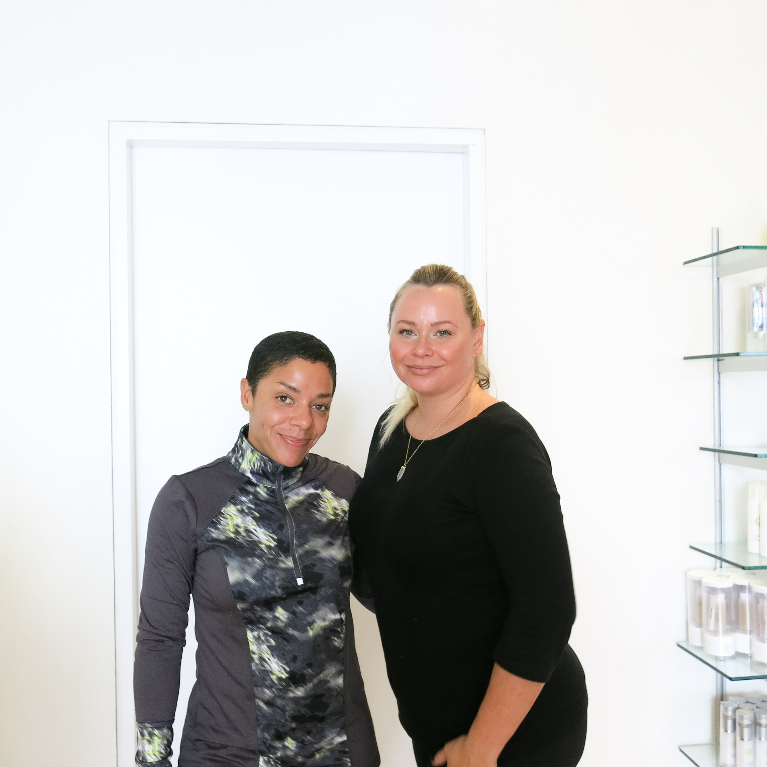 With the lovely esthetician Bonnie Brenkman