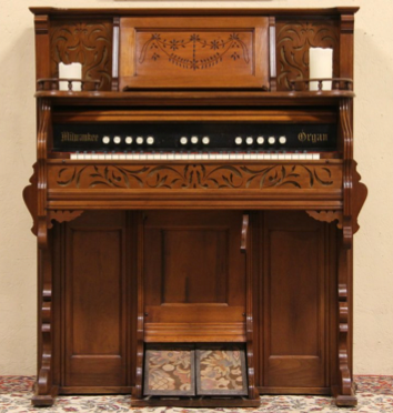 Typical reed organ dating to the 1860s