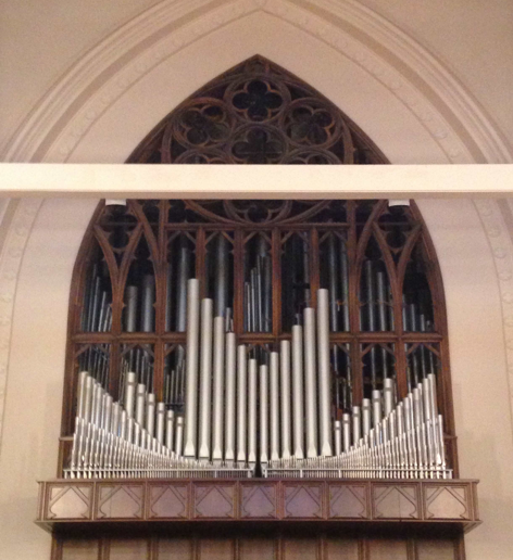 Schantz pipe organ in use at First Baptist from 1986 to 2017.