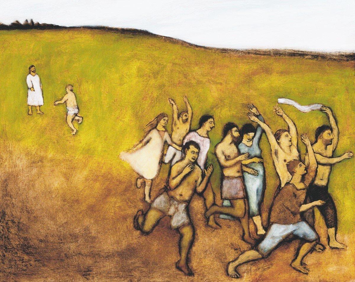 Ten Lepers Healed, by Brian Kershisnik