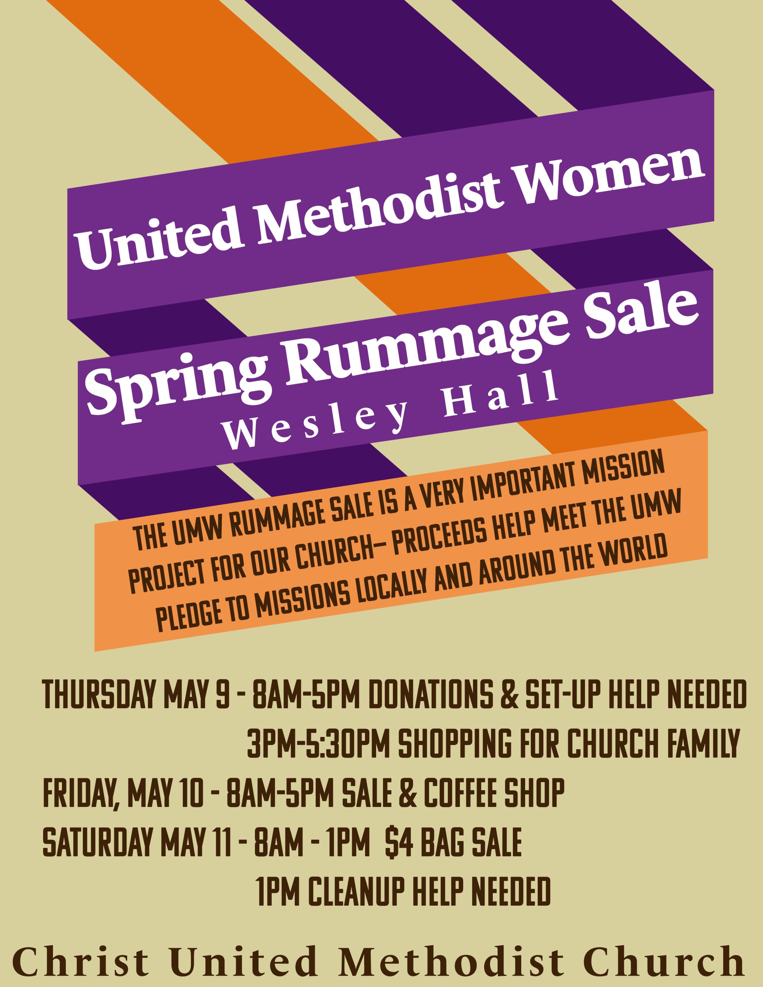UMW Rummage Sale 2019 2k19.png