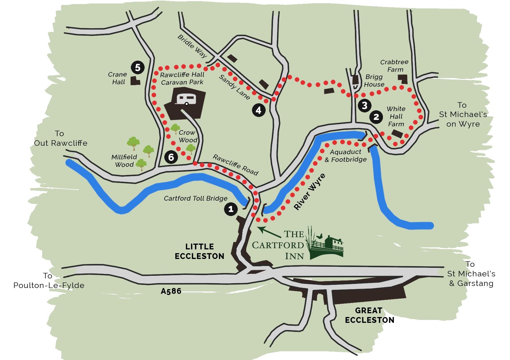 Cartford Country Walk Map