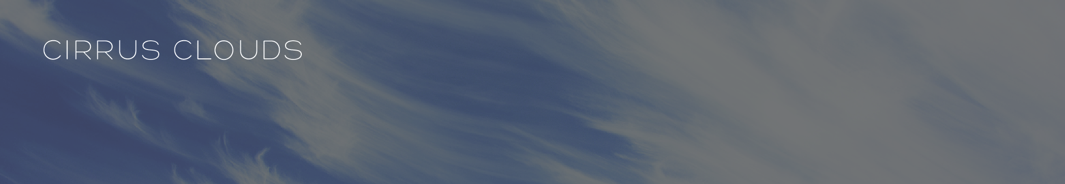 What role do clouds, and cirrus clouds in particular, play in climate change?