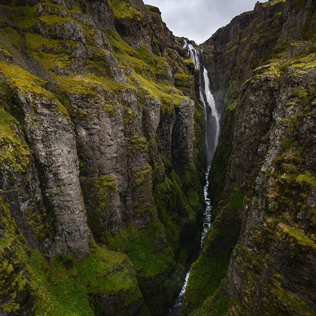 Glymur waterfall. The second tallest waterfall in Iceland and our first hike upon leaving Reykjavik⠀ . ⠀  #travel #travelgram  #natgeo #worlderlust #iceland #hike #glymur #waterfall #instablishment #slcimages #adventure #backpacking #tourism #ventureout #neverstopexploring #nature