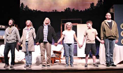 Loren Bidner, Sharon Resnikoff, John Davidson, Suzanna Hay, William Kalland, and Edward Breese in Judson Theatre Company's ON GOLDEN POND (Donna Ford Photography)