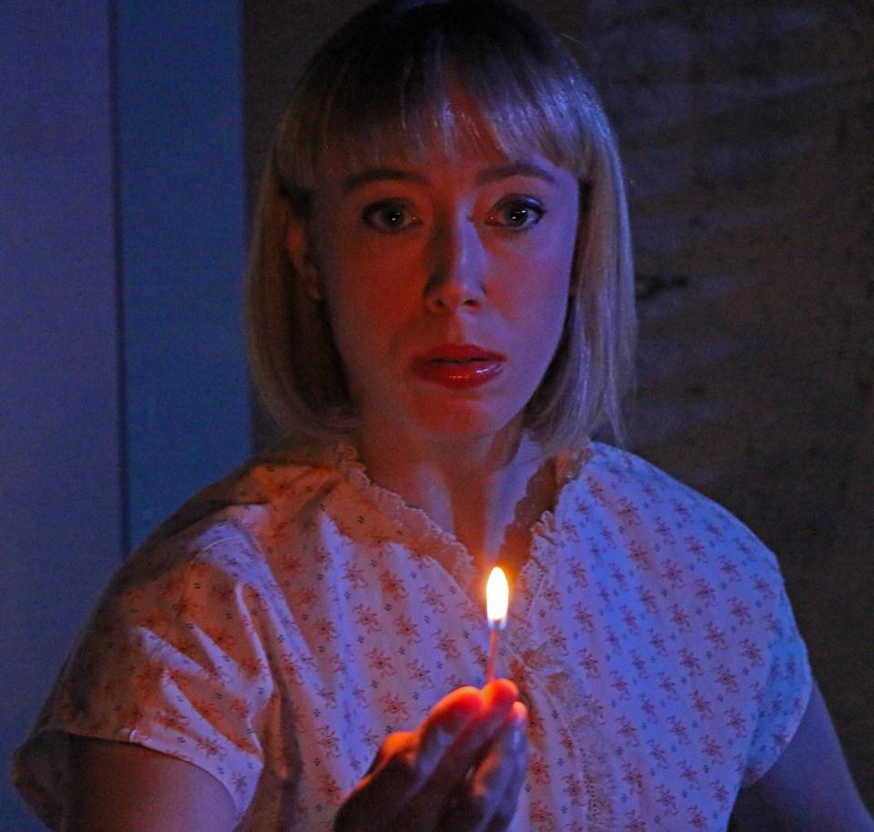 Quinn Warren as Susan Hendrix in Jeffrey Hatcher's adaptation of Frederick Knott's suspense classic WAIT UNTIL DARK at Millbrook Playhouse.