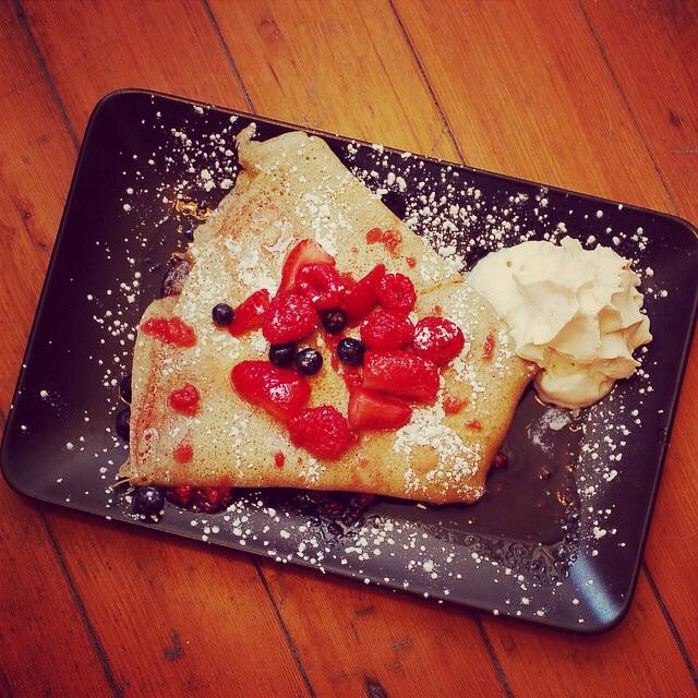 Berries and Cream crepe at Wunderbar.
