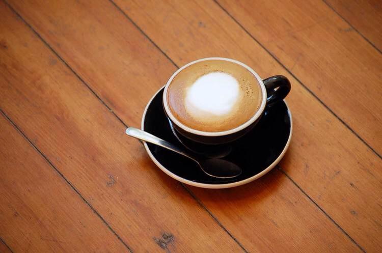 A cappuccino at Wunderbar.