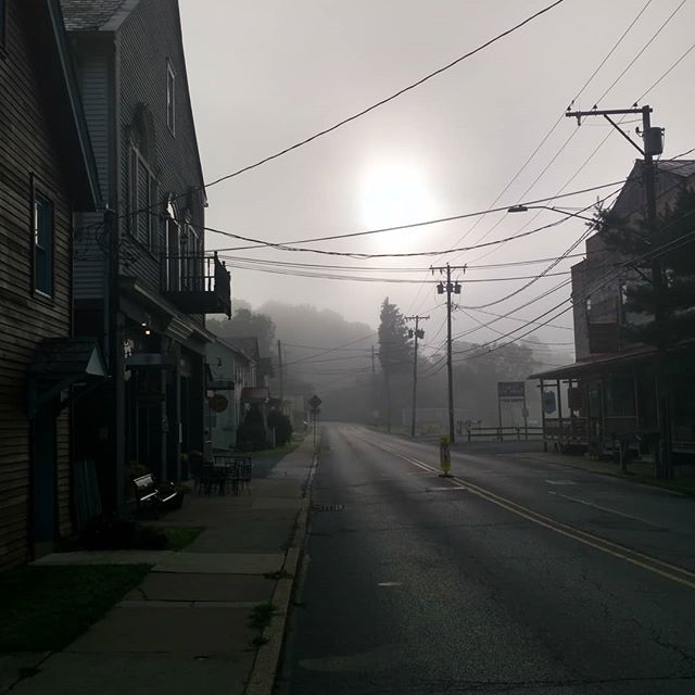 Some mornings our little town looks like Silent Hill. No filter, early a.m.