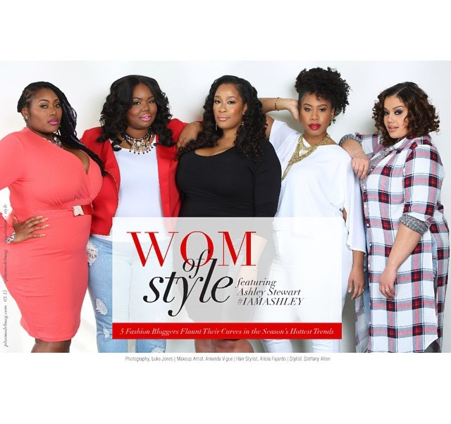 My self and these beautiful ladies all styled in Ashley Stewart.