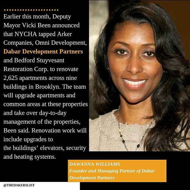 The New York City Housing Authority has tapped another development team to perform $350 million in repairs as part of a program that shifts public housing to private management. ... ... #thedakerslist #NYCHA #affordablehousing #realestate #nycrealestate #developers #cre #womeninbusiness #womeninrealestate #minority #professionals #nyc