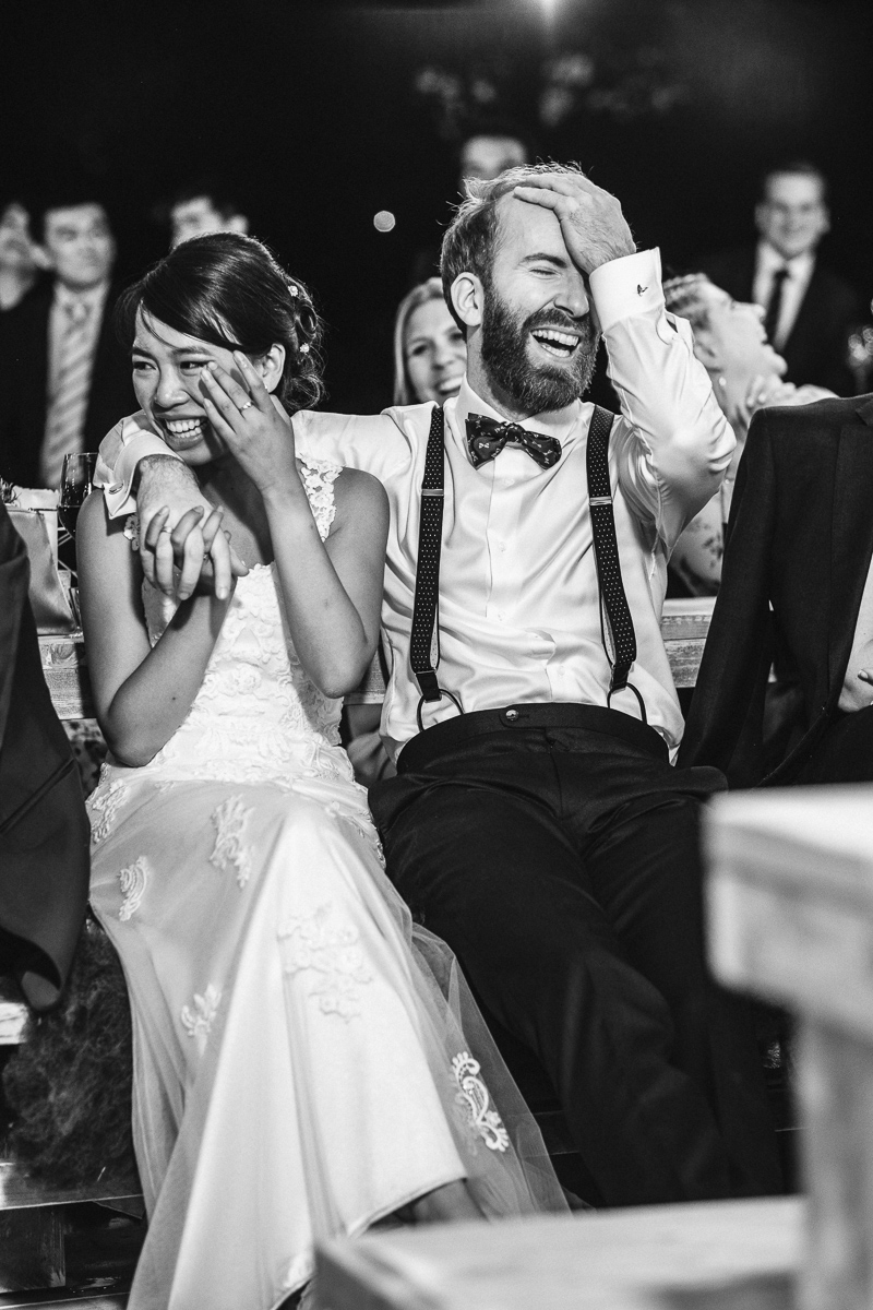 When you just can't believe how happy you exactly are #fuji #fujixt2 #bride #groom #wedding #weddingday #weddingphoto #weddingphotography #weddingphotographer #weddingstyle #weddingdress #iso800 #love #hugs #kisses #mywed #fearless #ceremony #instawed #instalove #instalike #instagood #picoftheday #weddingbells #bw #blackandwhite #laughs #happy #tears
