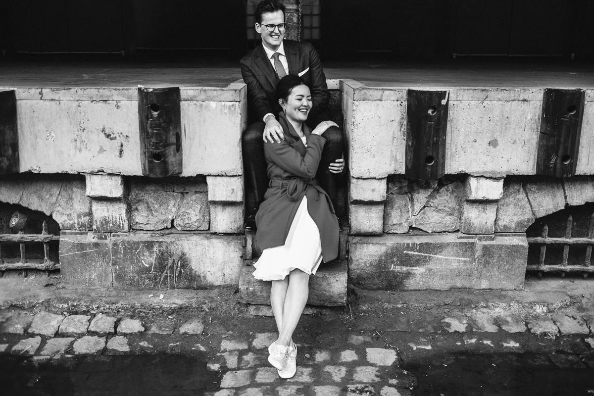 trouwfotografie Kim & Philip spontaan Brussel Tour & Taxis