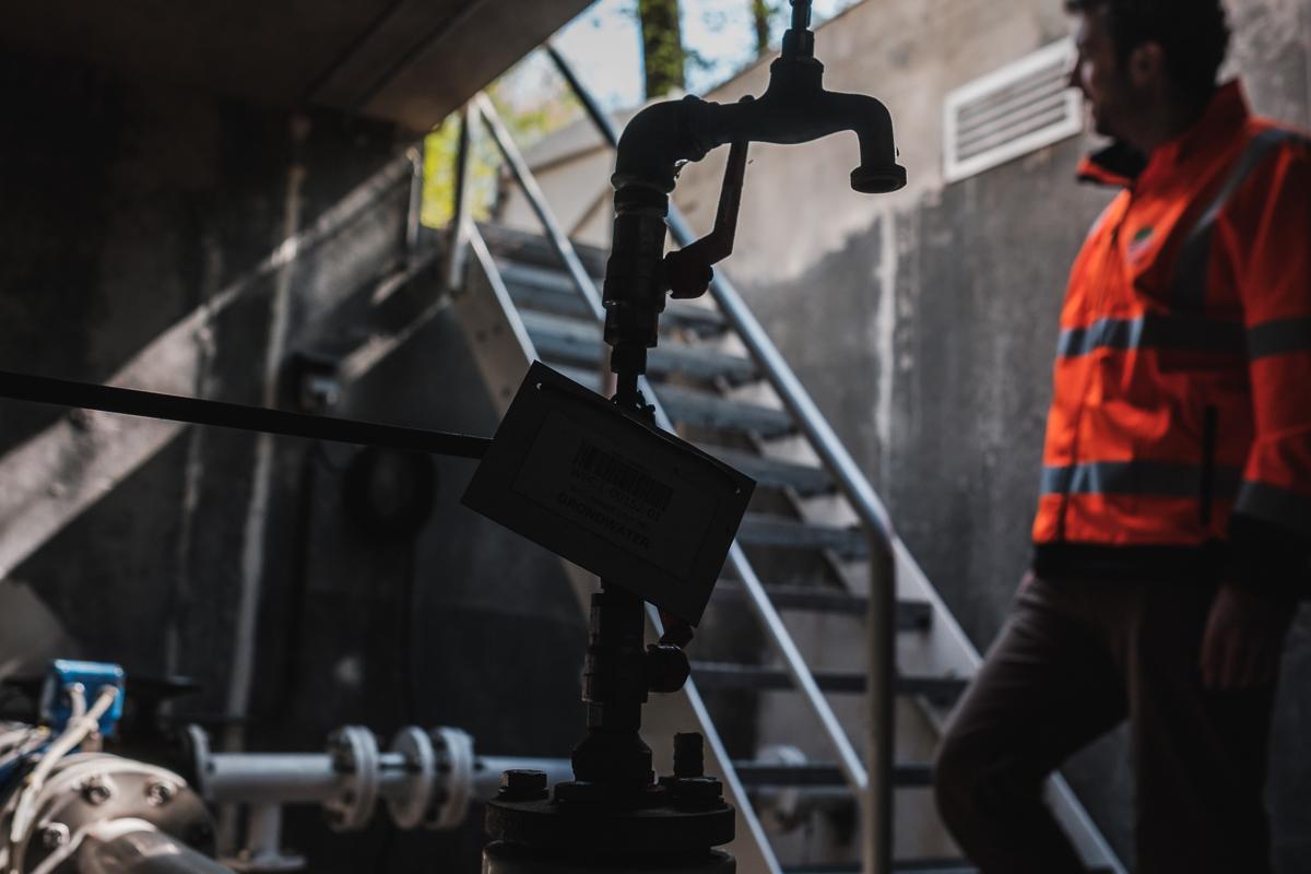industriële foto's van de waterzuiveringsinstallatie in eeklo v