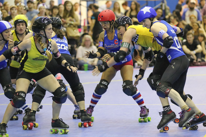 With 116 points, Brooklyn's Miss Tea Maven (right) helped her team secure a spot in the 2015 Championships. Photo by David Dyte.