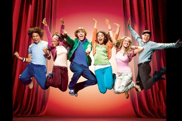 "Cast members of Disney's original TV movie, ""High School Musical""."