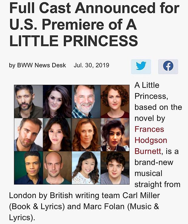 Look at this incredible cast! ♥️ #alittleprincess #alittleprincessnyc #nyctheatre #timessquare #musicaltheatre #unitedstatespremiere