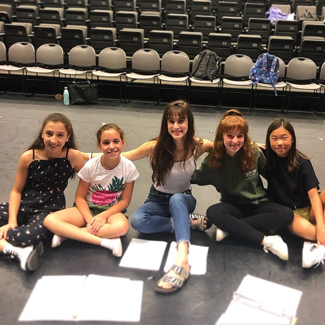 Becky's with former Becky and 2nd AD, Maya! Ready for day 3 of rehearsal in NYC 🌟 #alittleprincess #rehearsal #nyc #becky #unitedstatespremiere #kotaproductions