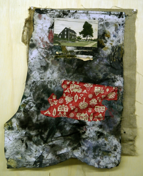 Home rag , acrylic and oil on fabric collage. October, 2012