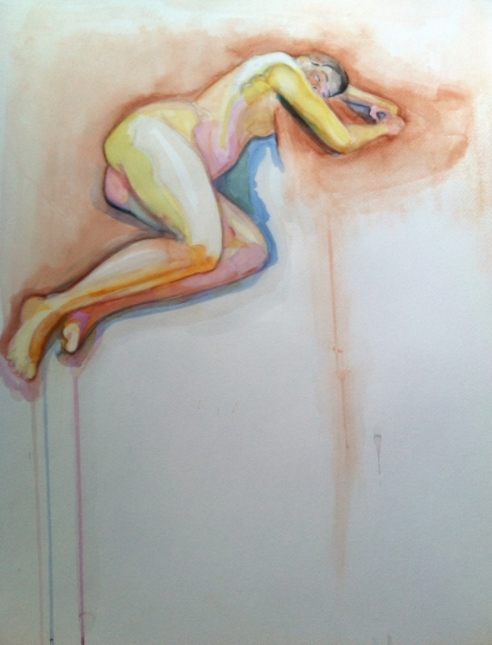 Corina Willette,  Floating figure , watercolor on paper