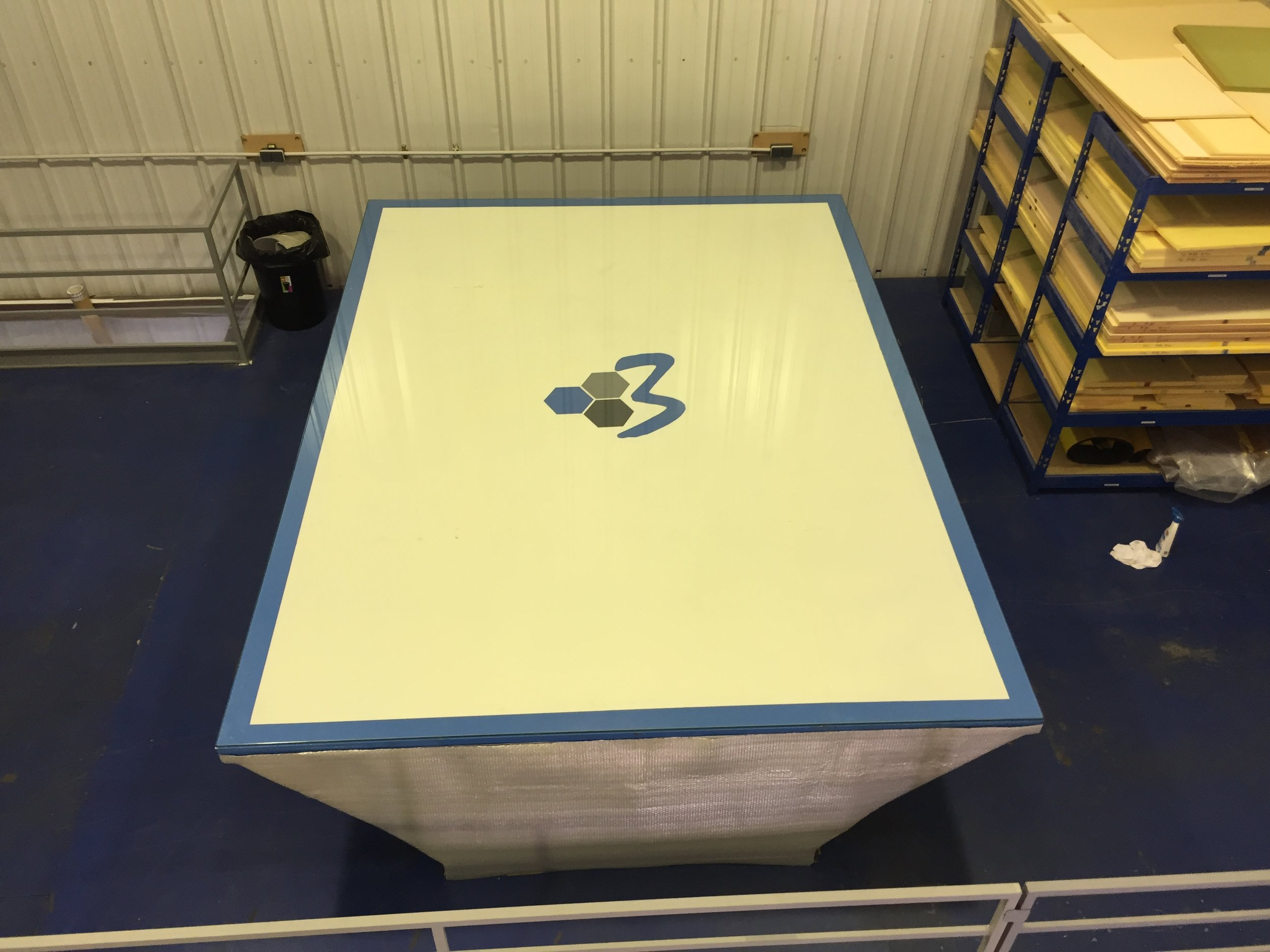 Vacuum infusion table is a particularly useful tool, we are able to produce flawless cosmetic panels straight off the table