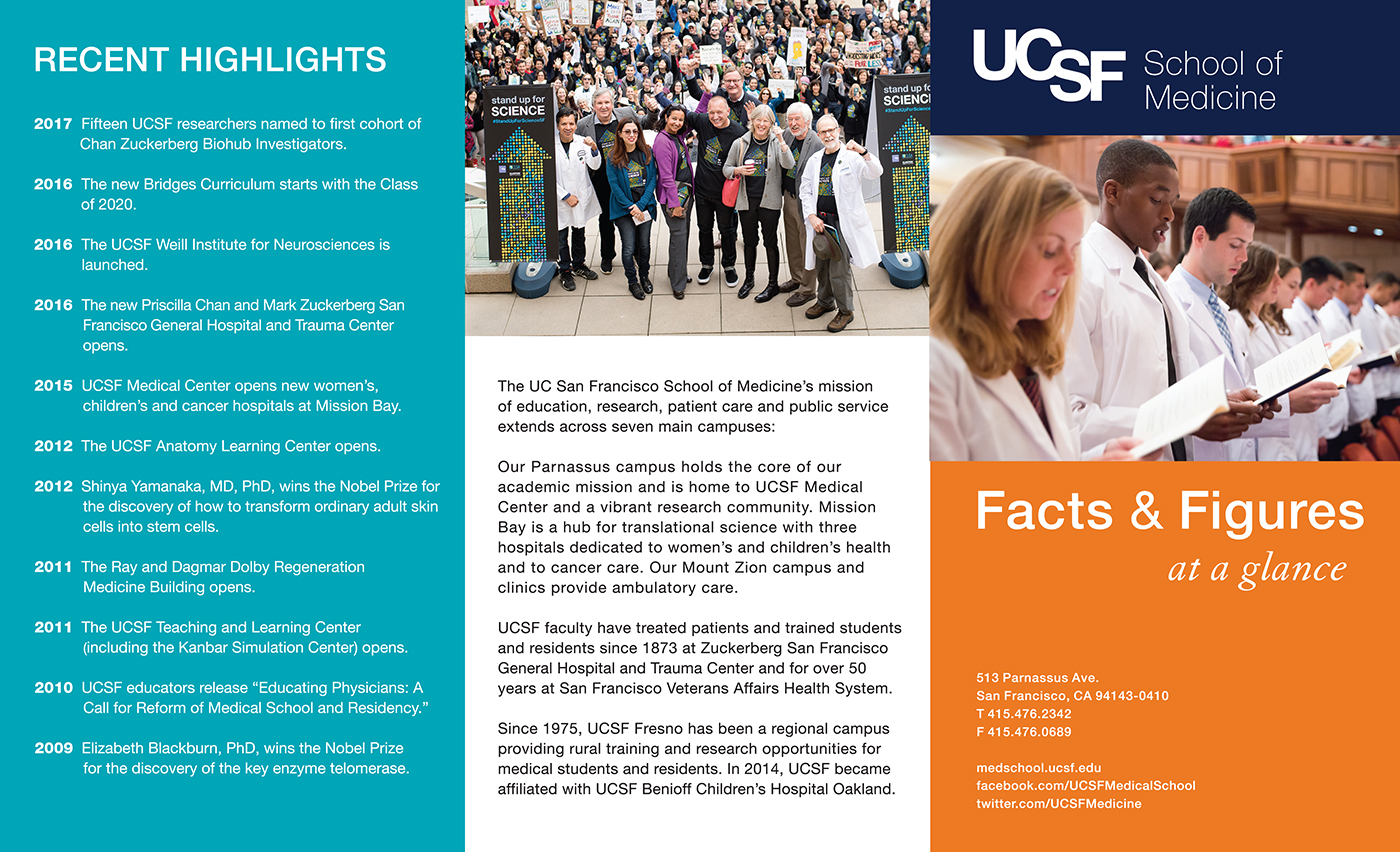 2018 annual Facts & Figures for UCSF School of Medicine