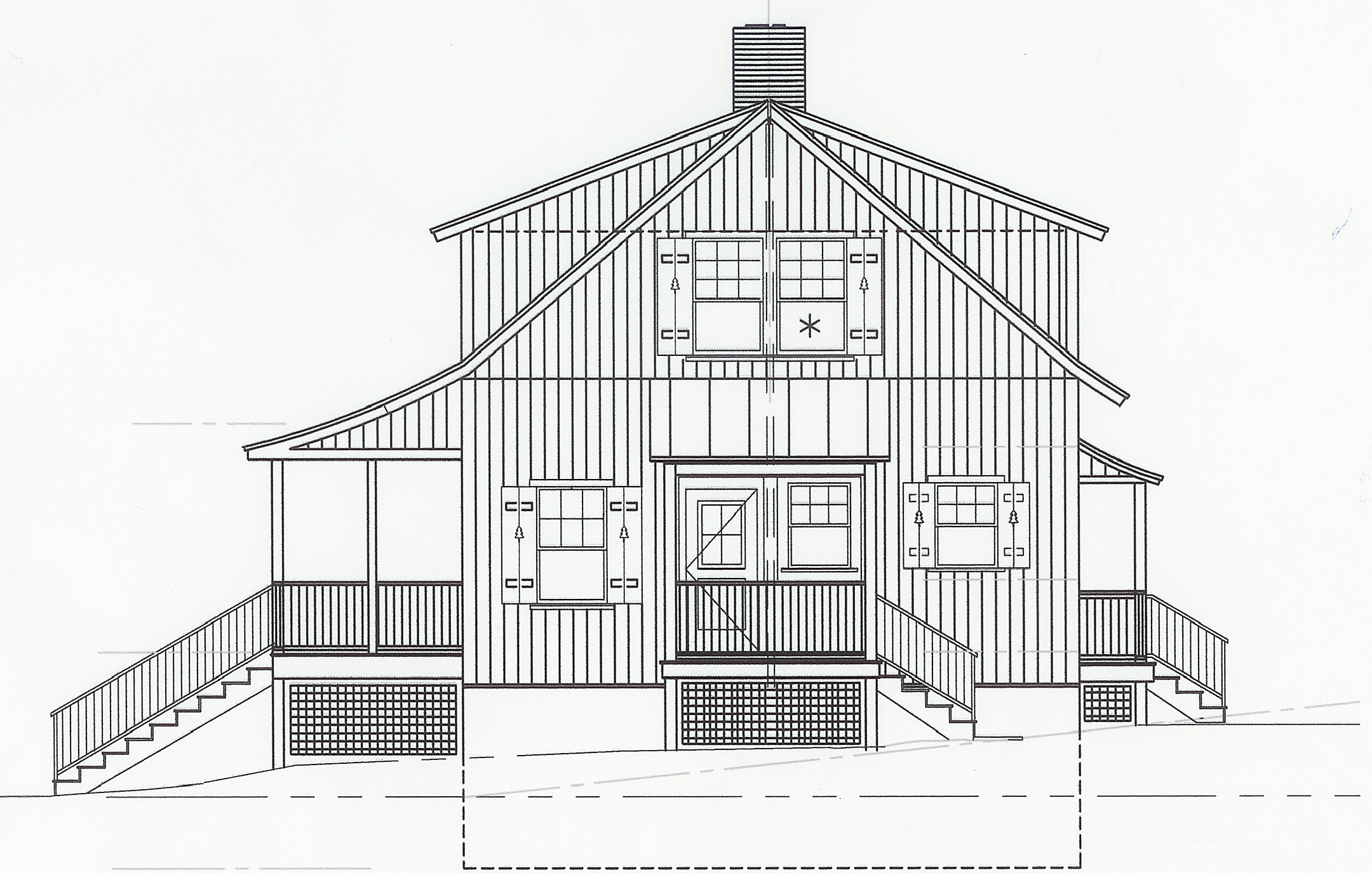 The East Elevation. CAD drawings: Peter Clement