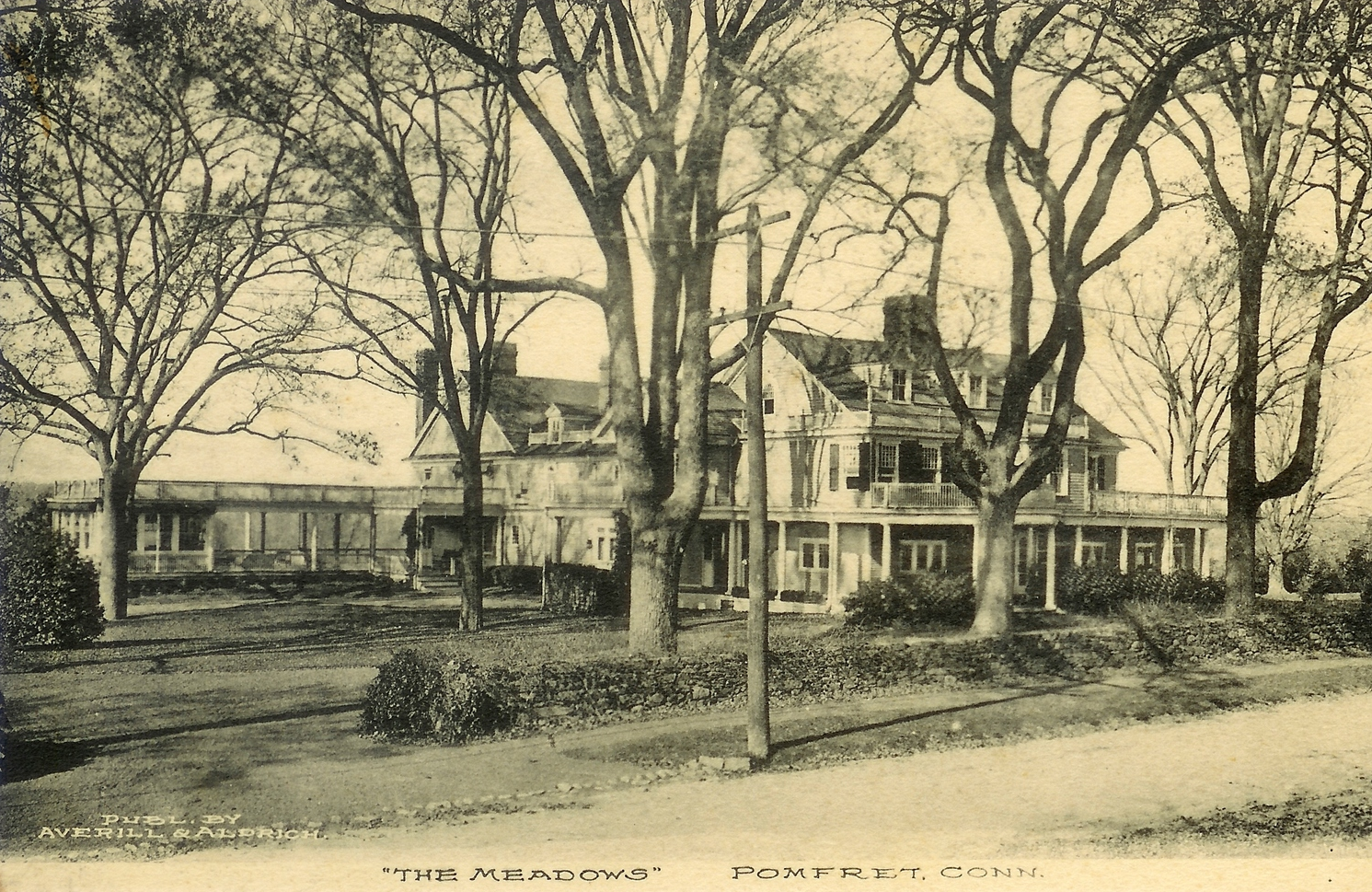 The Col. Thomas Grosvenor House in the 1890's, after Thomas S. Harrison had doubled the size of the house, in a Colonial Revival style.