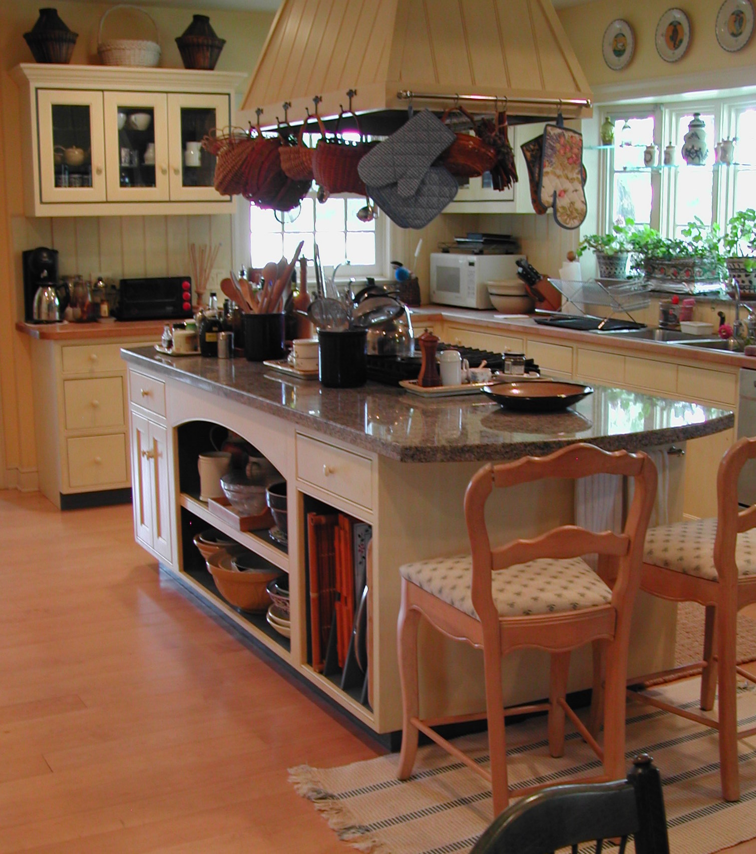 All the cabinetry was custom built. The owners are both passionate about cooking.