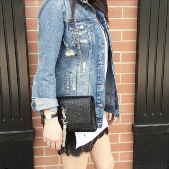 Of course a denim jacket is a given. We are loving distressed + oversized styles