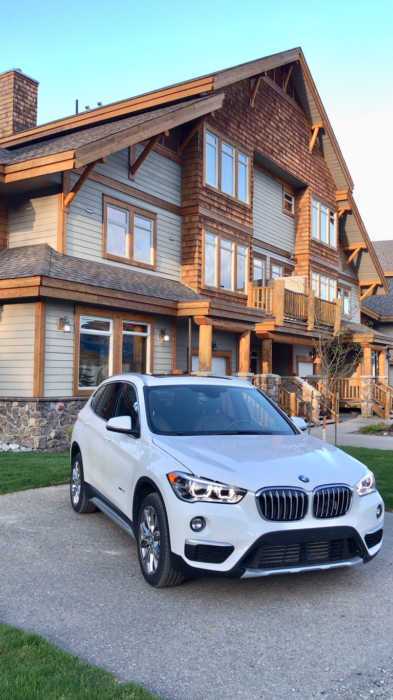 white BMW X1 Kimberley BC North Star Mountain Village Resort Cabin.jpg