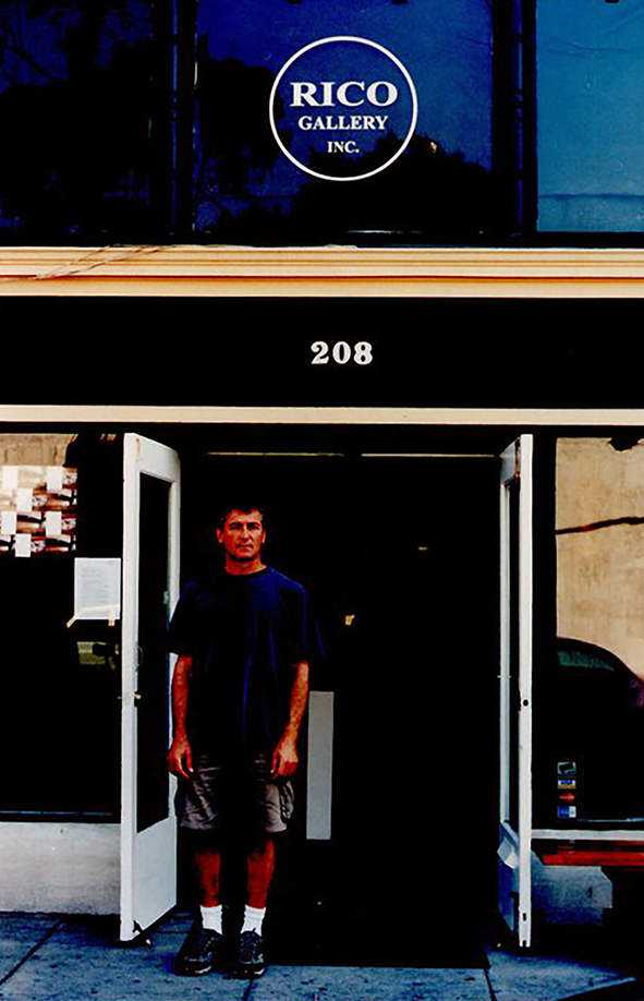 """The third gallery located just up the street from the other gallery. Artist Manfred Menz sponsored this gallery. Jean continued to hang the art here. He produced 1 show here titled """"Tortured Dreams"""" 2000"""