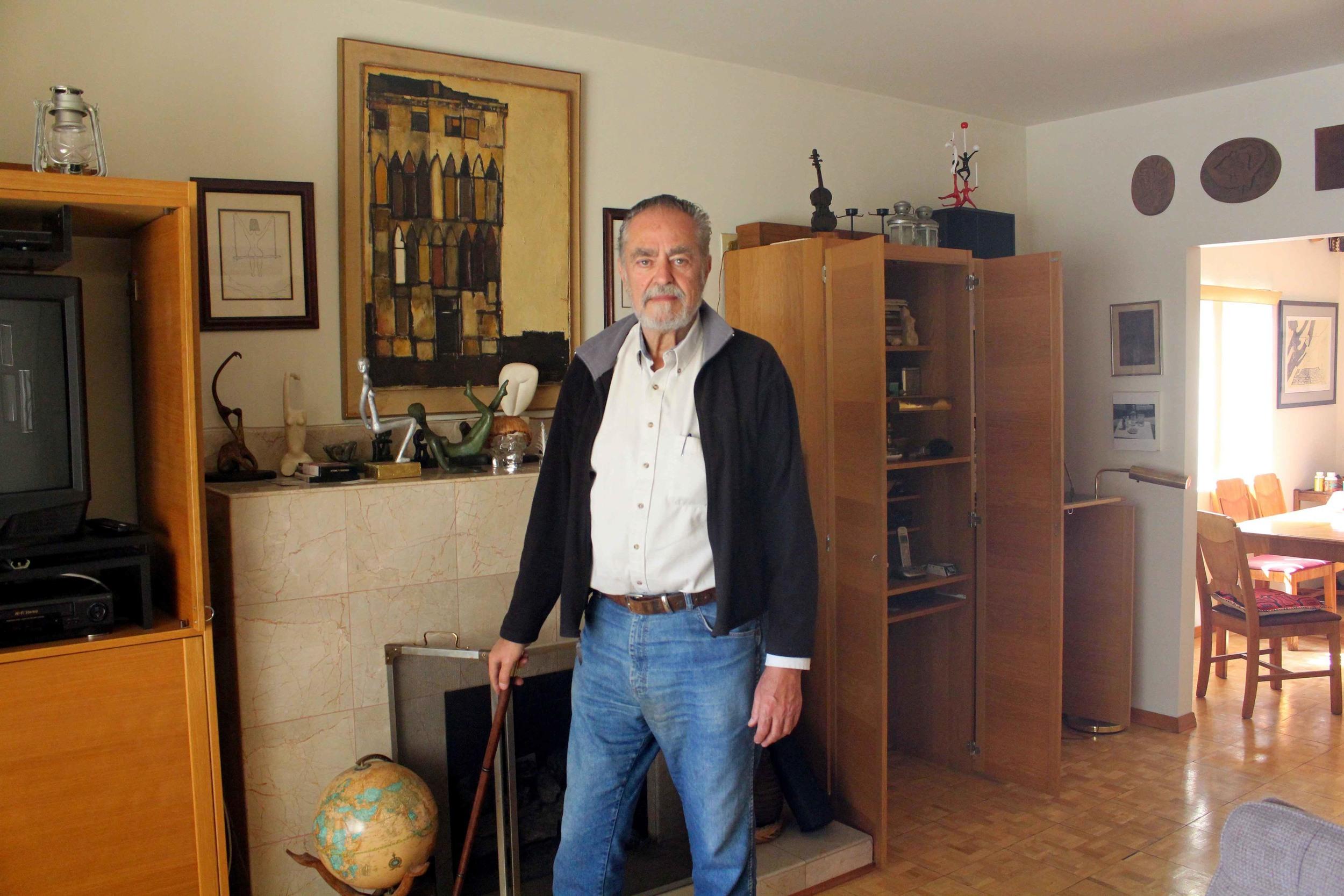 Rafael Buñuel in his studio/home. Photo by Gary Eisenberg