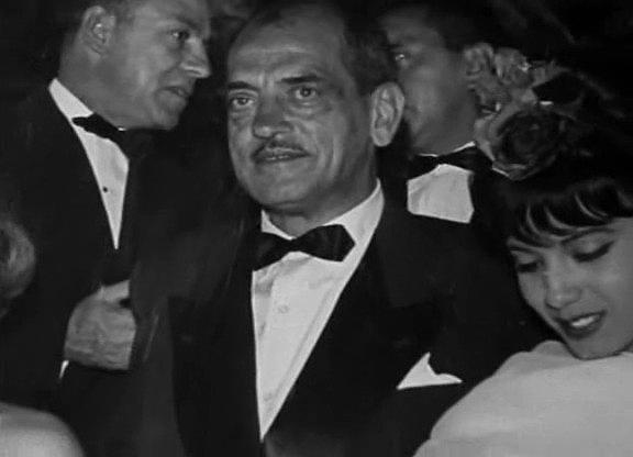 Luis Buñuel at a movie premier.