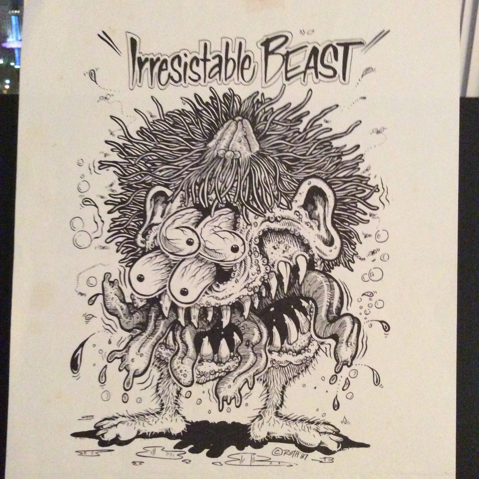 Ed Big Daddy Roth would have an artist create a drawing like this for Jean Jacques Bastarache to paint.