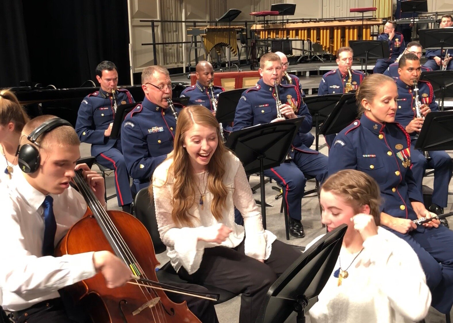 United Sound musicians performing with the United States Coast Guard Band at The Midwest Clinic in 2017!